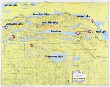 F-14: Clearwater Lake, Greenwood Lake, Fowl Lake