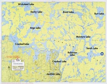 F-17: Crooked Lake, Dark Water Lake, Sarah Lake