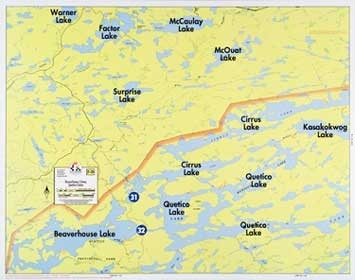 F-28: Beaverhouse Lake, Cirrus Lake, Quetico Lake