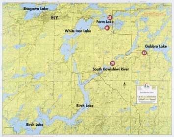 F-3: Birch Lake, White Iron Lake, Gabbro Lake