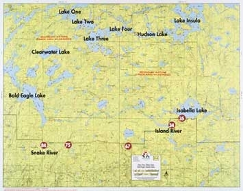 F-4: Lake One, Lake Two, Lake Three, Lake Four, Bald Eagle Lake, Insula Lake