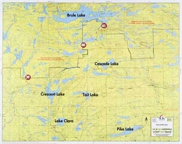 F-6: Smoke Lake, Flame Lake, Brule Lake