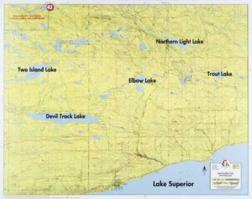 F-7: South Gunflint Trail, Two Island Lake, Devil Track Lake