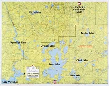 F-8: Lake Vermilion, Trout Lake, Vermilion River, Bootleg Lake