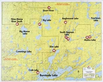 F-9: Cummings Lake, Big Moose Lake, Fourtown Lake