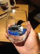 Hand Painted Loon Glassware