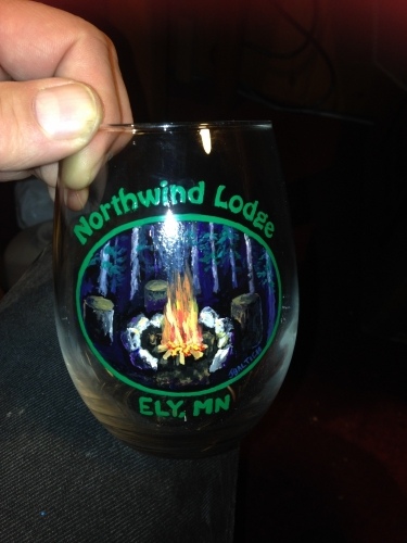 Hand Painted Camp Fire Glassware