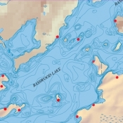 McKenzie Map 10A - Basswood Lake Depth Contour Map
