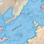 McKenzie Map 10A - Basswood Lake Depth Contour Map