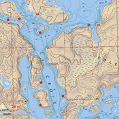 McKenzie Map 113 - Lac La Croix, Loon - Depth Map