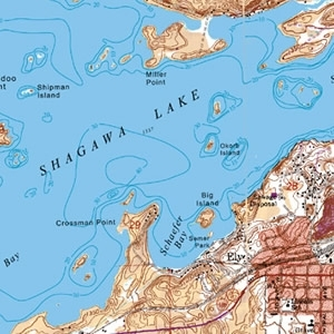 McKenzie Map 116 - Town of Ely, Shagawa Lake
