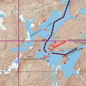 McKenzie Map 11 - Jackfish Bay, Crooked Lake and Beartrap River
