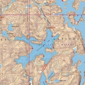 McKenzie Map 13 - Lac La Croix Lake