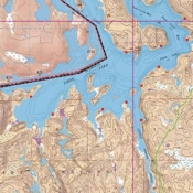 McKenzie Map 14 - Loon, Wilkins Lakes and Little Indian Sioux River