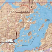 McKenzie Map 16 - Burntside and Cummings Lakes