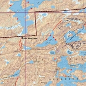 McKenzie Map 17 - Fall Lake and Pipestone Bay