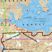 McKenzie Map 19 - Isabella and Insula Lakes