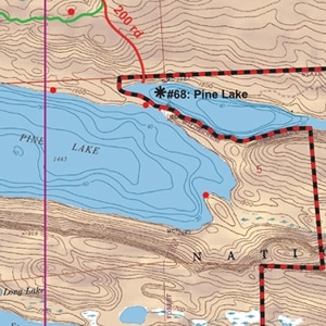 McKenzie Map 1 - Pine, Greenwood and Mountain Lakes