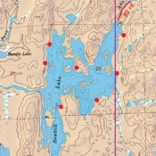McKenzie Map 21 - Sawbill, Brule and Pipe Lakes