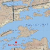 McKenzie Map 25 - Saganagons and Mack Lakes