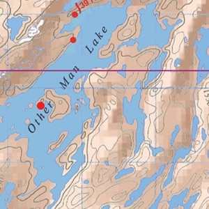 McKenzie Map 26 - This Man and Cache Lakes