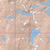 McKenzie Map 30 - Red Pine, Badwater and Snow Lakes