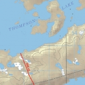 McKenzie Map 32 - Thompson, David Lakes and Namakan River