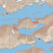 McKenzie Map 34 - Quetico, Cirrus and McCauly Lakes