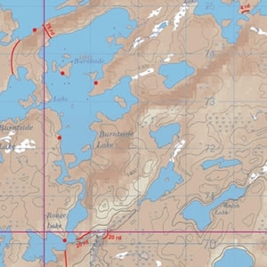 McKenzie Map 35 - Sturgeon, Burntside and Jean Lakes