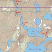 McKenzie Map 36 - Keefer, Williams and Camel Lakes