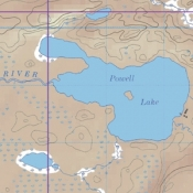 McKenzie Map 38 - Powell Lake, Obadinaw and Wawiag Rivers