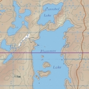 McKenzie Map 39 - Titmarsh, Plummens and Nelson Lakes