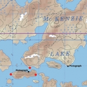 McKenzie Map 42 - McKenzie, Cache and Buckingham Lakes