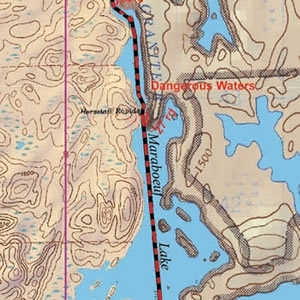 McKenzie Map 5 - Granite River Route, Magnetic, Gunflint and Northern Light Lakes
