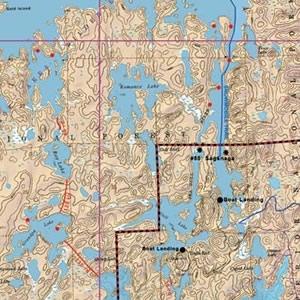 McKenzie Map 6A - Saganaga, Saganagons