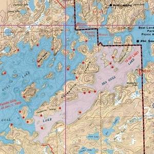 McKenzie Map 6 - Saganaga and Seagull Lakes
