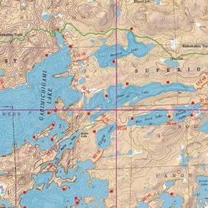McKenzie Map 7 - Little Saganaga and Tuscarora Lakes