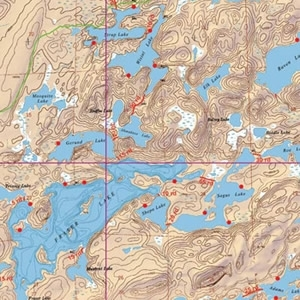 McKenzie Map 8 - Knife, Kekekabic and Thomas Lakes