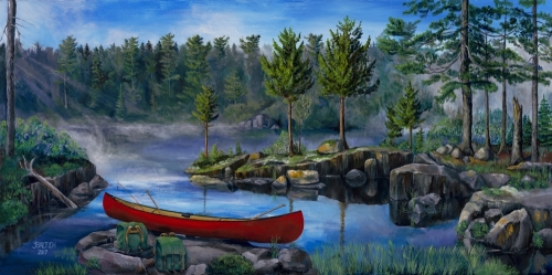 Lost in the Boundary Waters Canvas Print 12 x 28 by Joe Baltich